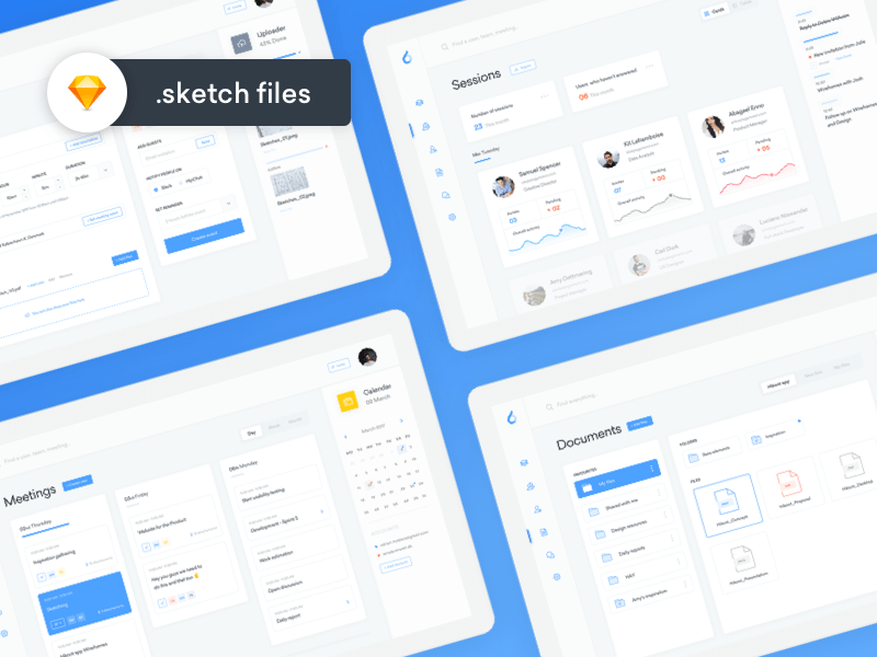 Productivity Dashboards Sketchapp
