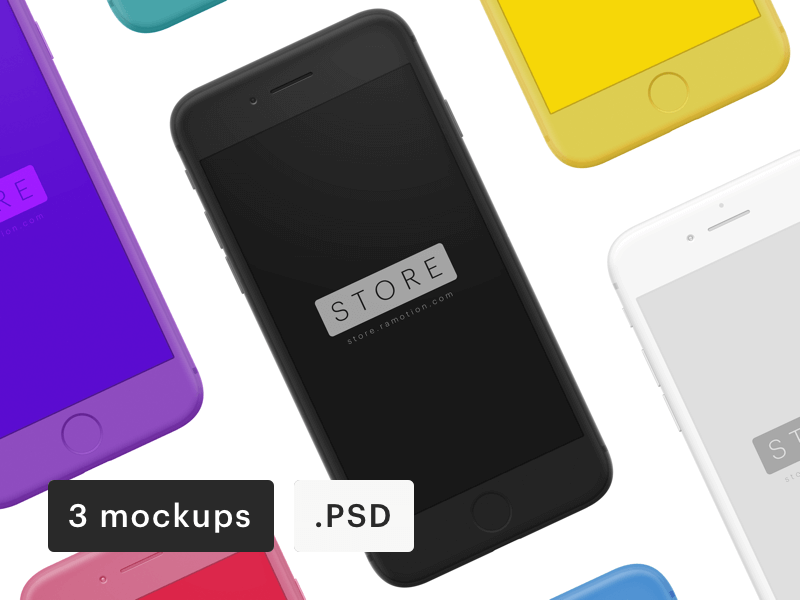 iPhone Clay Frontal Mockup PSD