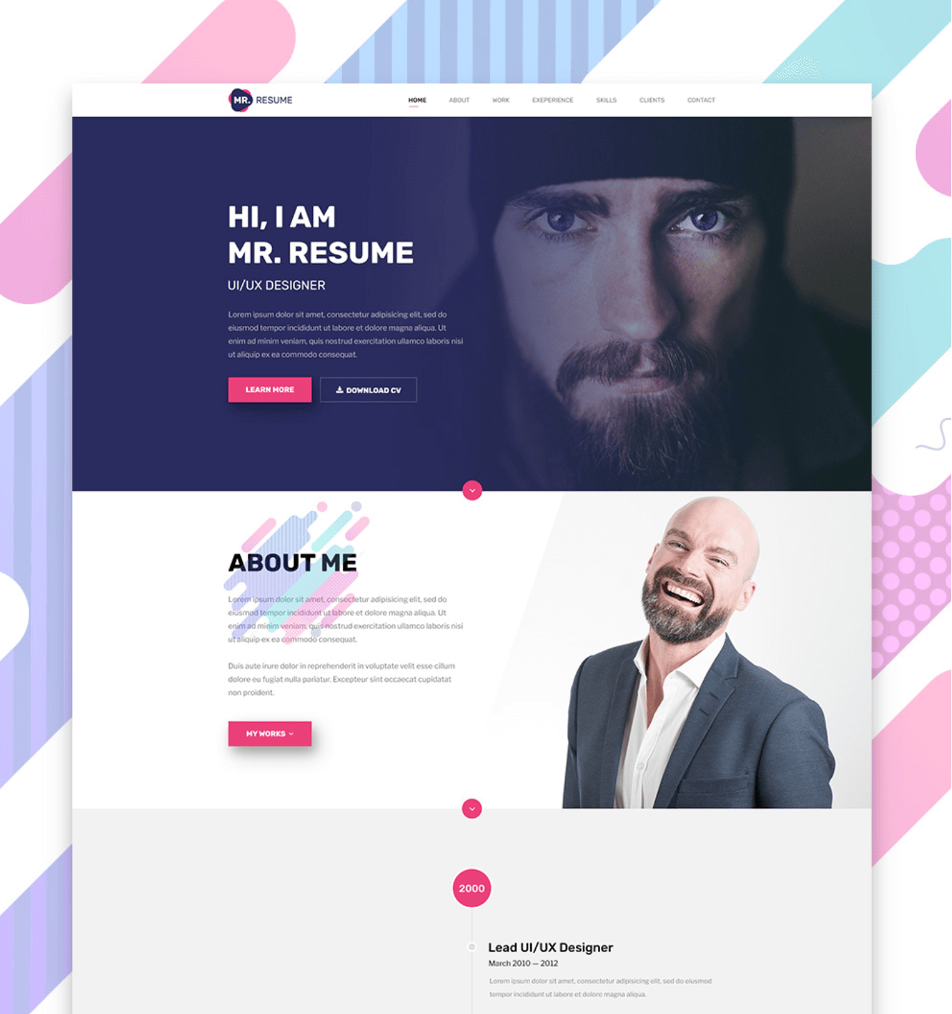 resume template psd free psds sketch app resources for designers