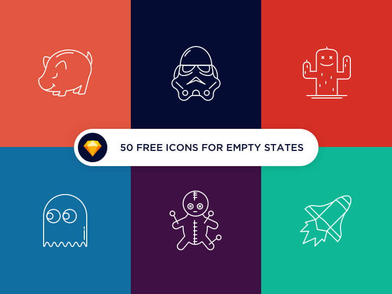 50 free icons for empty states