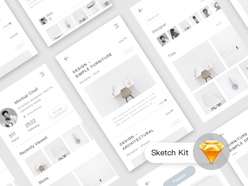 Furniture .app UI Kit sketchapp