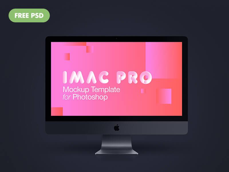 Imac Pro New 2017 Dark Grey PSD