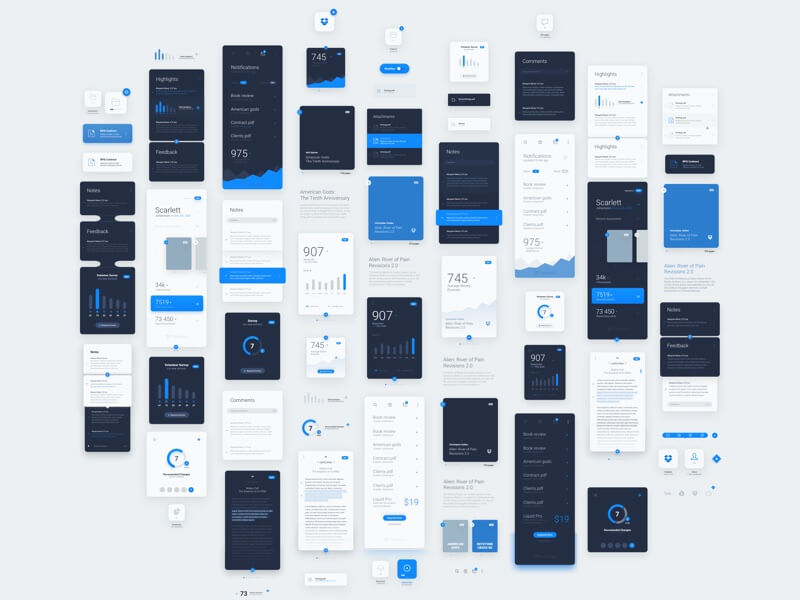 LiquidPro UI Kit Sketch-PSD