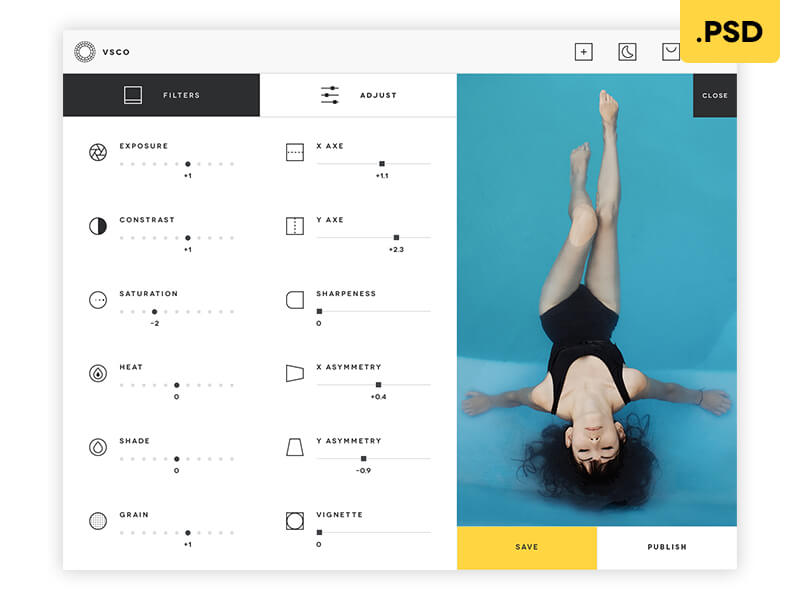 VSCO desktop App - Free .PSD