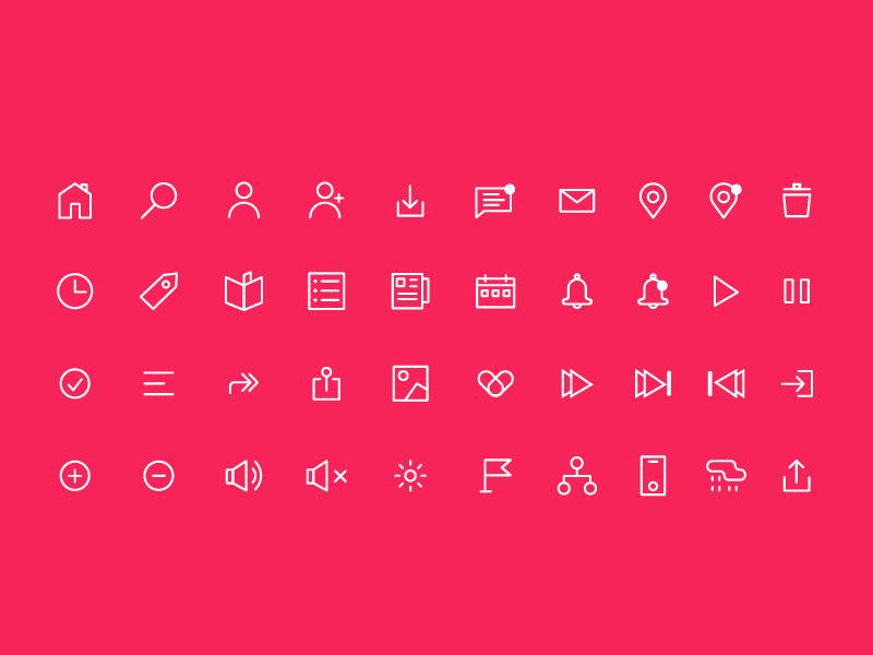 60+ icons set