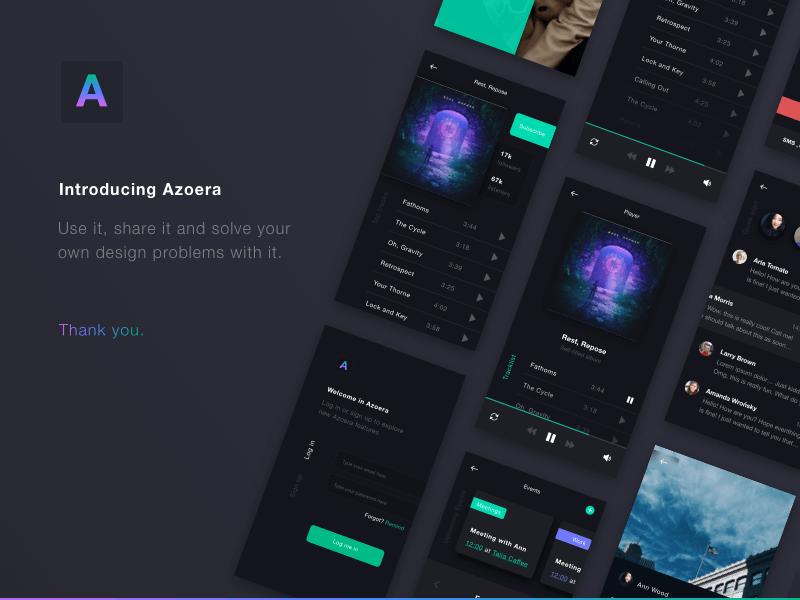 Azoera App UI kit Sketchapp