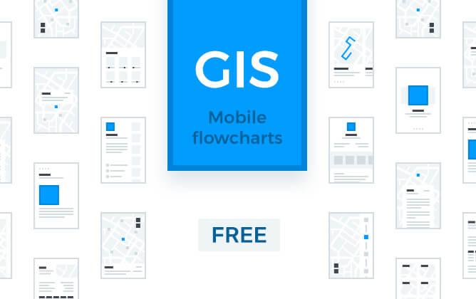GIS Mobile Flowcharts PSD