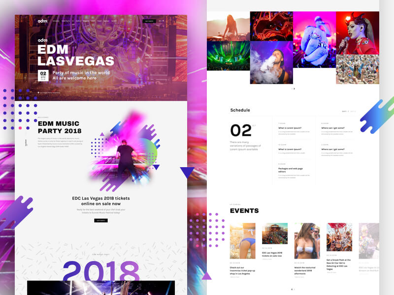 Landing Page For Music Event Sketchapp
