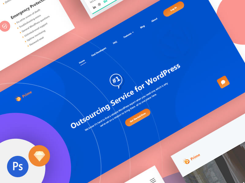 Prime Business Services UI Kits PSD
