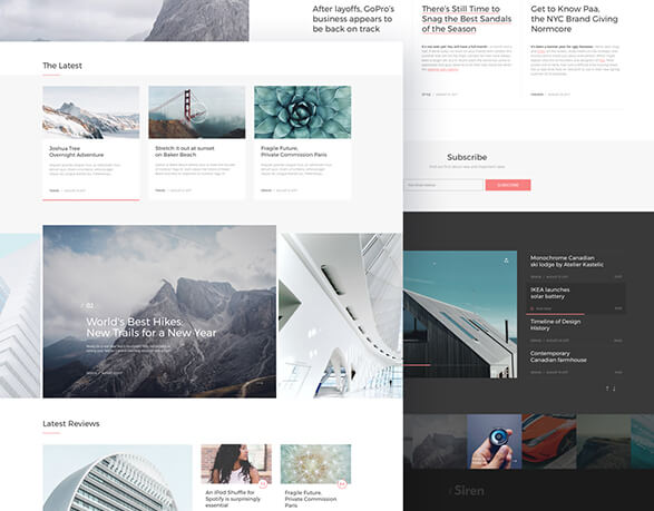 The Siren Wordpress Blog & Magazine Template | Free PSDs & Sketch ...