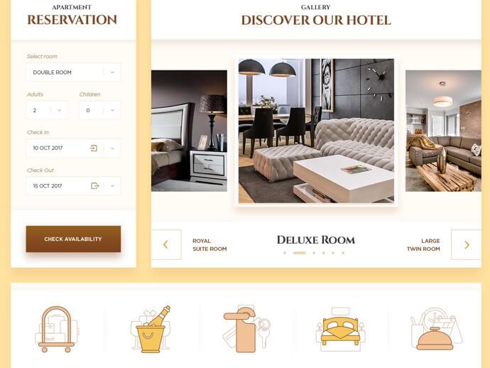 Hotel UI Kit PSD