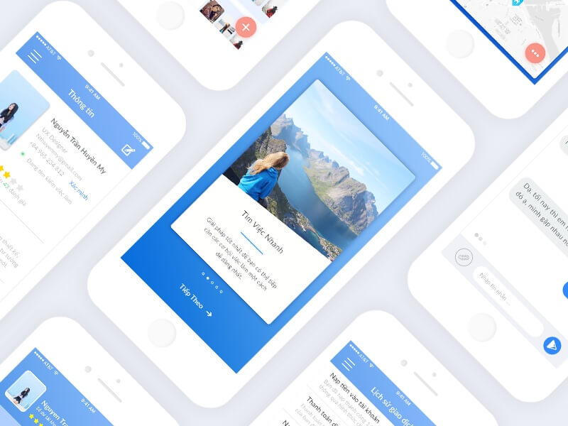 Find Job app 30 pages PSD