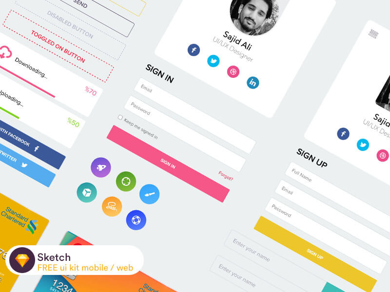 UI KIT for Mobile Sketch