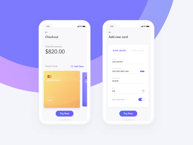 Credit Card Checkout Sketchapp