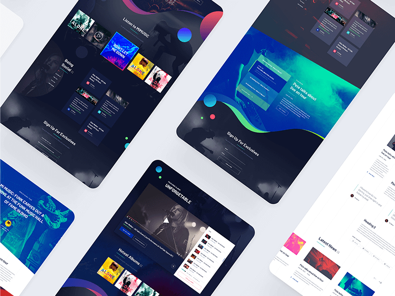 Music Website PSD Template