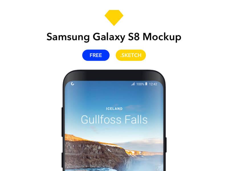 Samsung Galaxy S8 Mockup Sketch