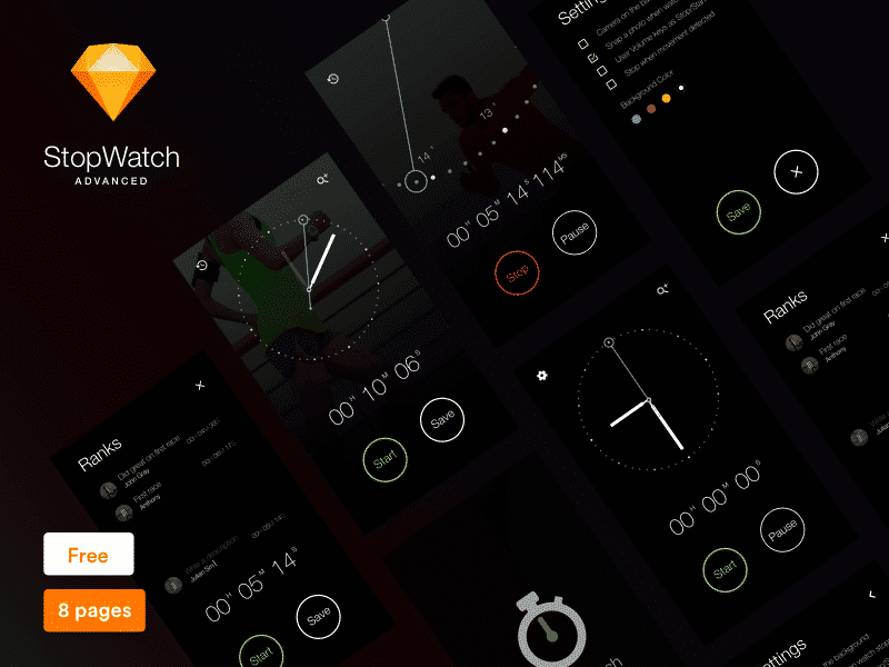 StopWatch app Sketch