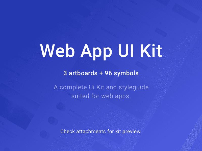 Web App UI-Kit Sketchapp