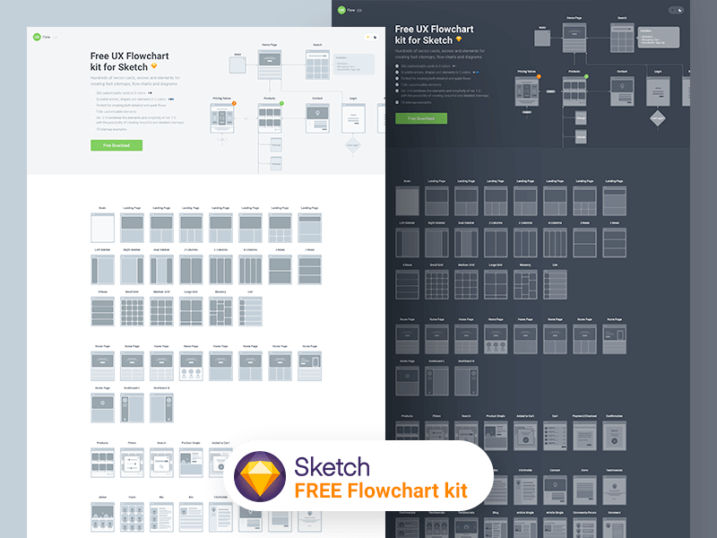 Flowchart kit 2.0 Sketch