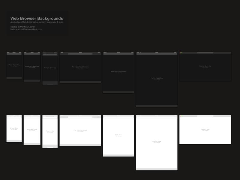 Web Browsers Sketchapp