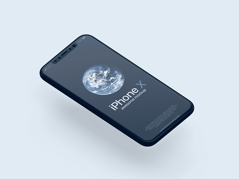 Perspective iPhone X Mockup PSD