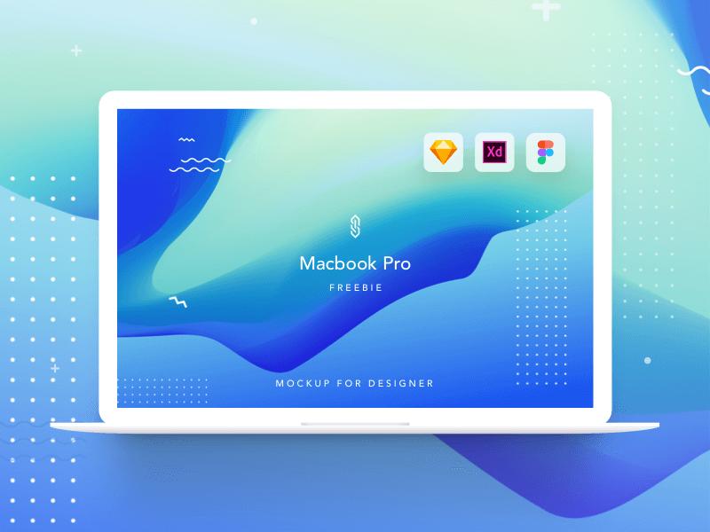Mackbook Pro mockup Sketch, XD, Frigma