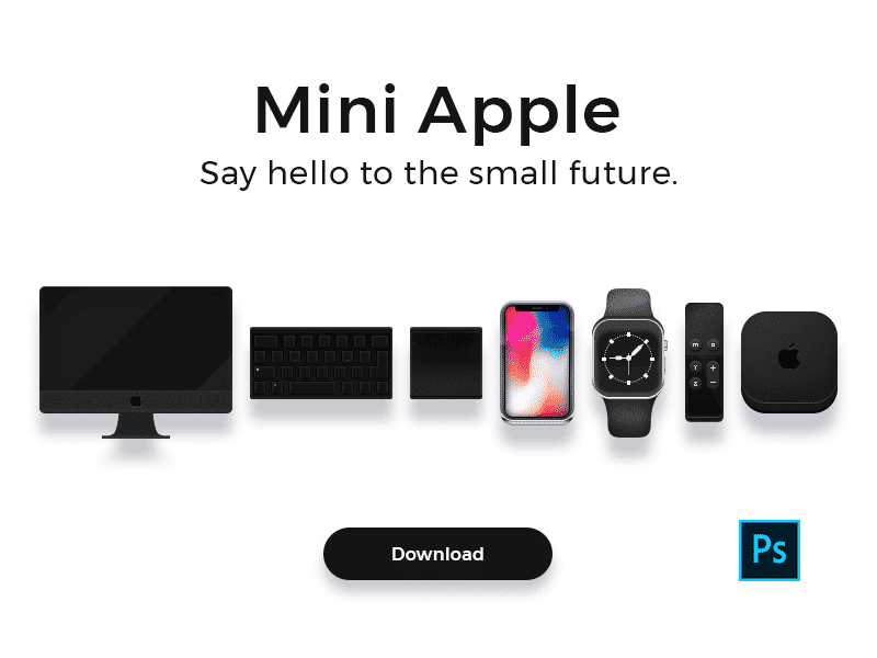 Mini Apple Icons .PSD