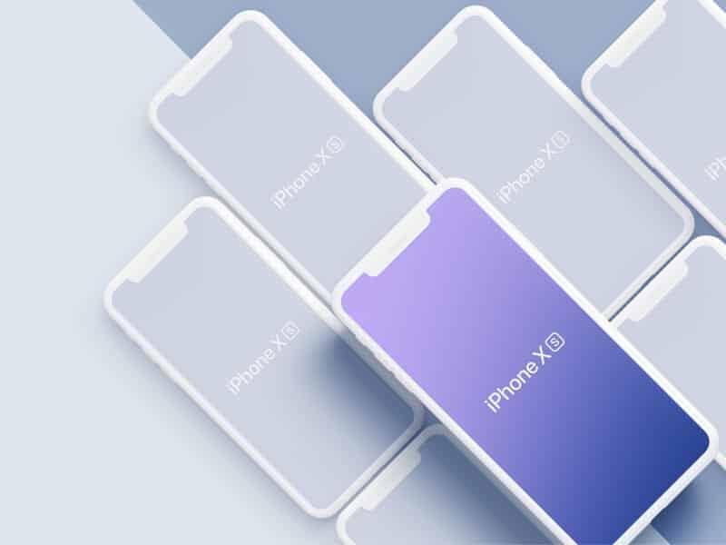 iPhone Xs, XsMax mockups Sketchapp