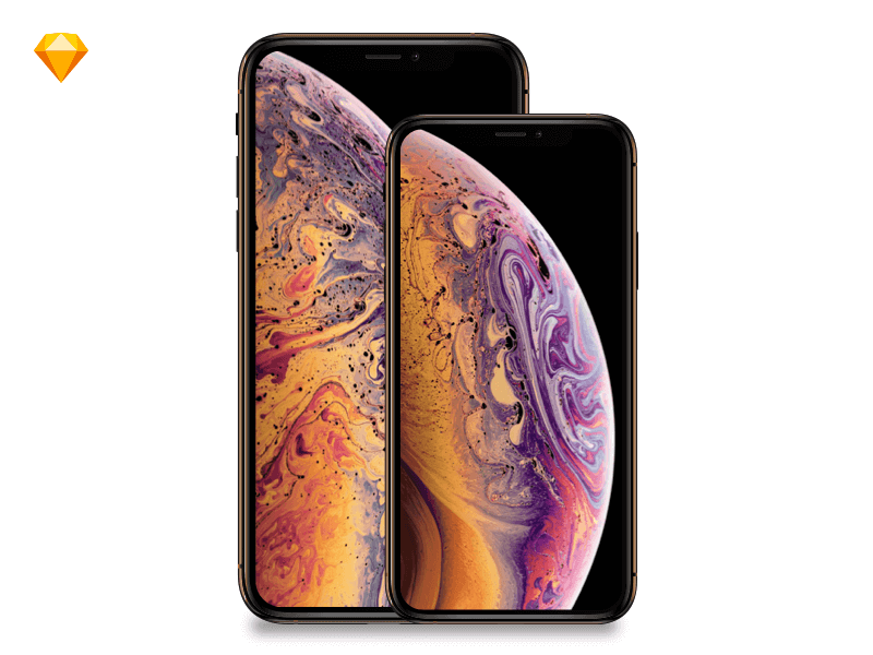 Free iPhone Xs Mockups PS, Sketchpp