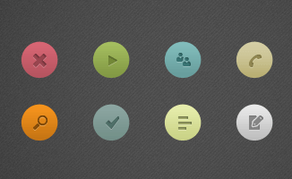 8 Piece Simple Icon(PSD)