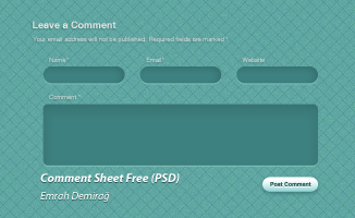 Comment Page Design(PSD)