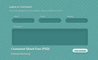 Comment Page Design(PSD)