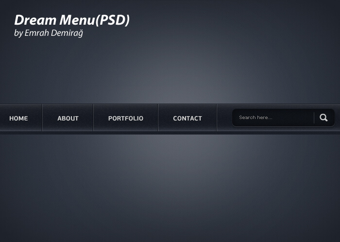 Dream Menu Design(PSD)