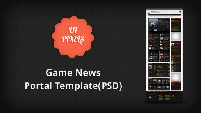 game-news-portal-theme-free-psd