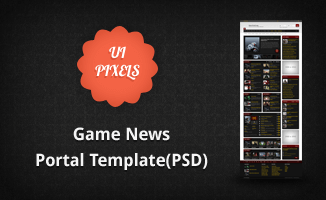 Game News Portal Template(PSD)