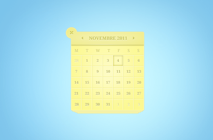 Yellow Fantastic Calendar(PSD)
