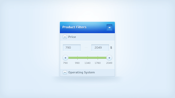 Price Slider(PSD)