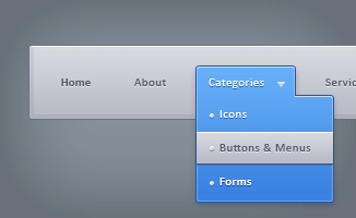 Drop Down Menu(PSD)