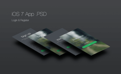 ios-7-login-and-register-app-psd