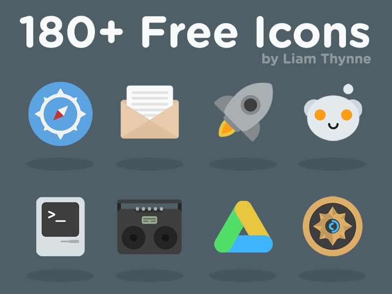 180+ Colorful Free icons