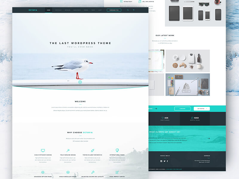 Clean Landing Page Free PSD