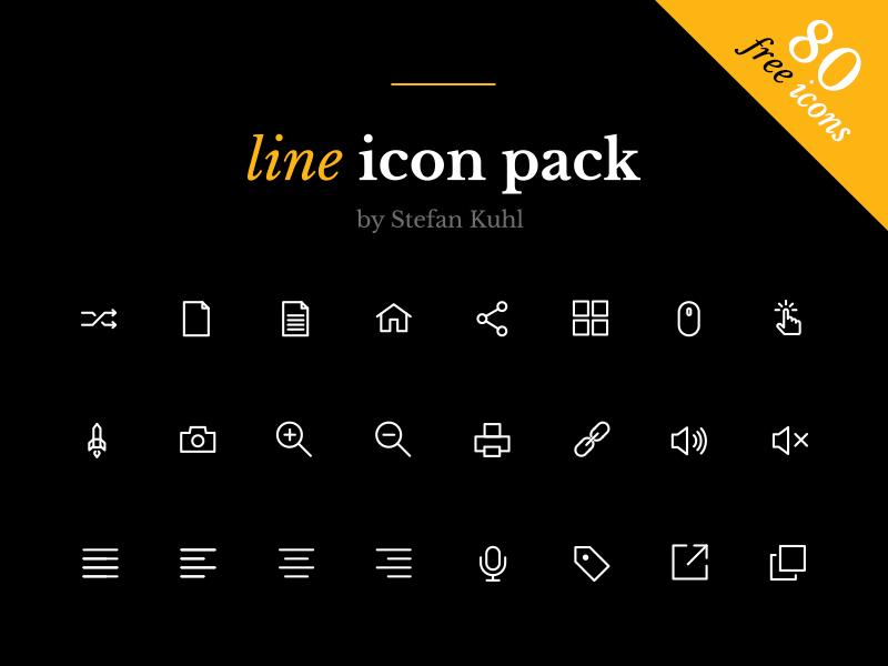 80 Line icons .Ai