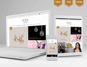 Noa jewelry sales website template
