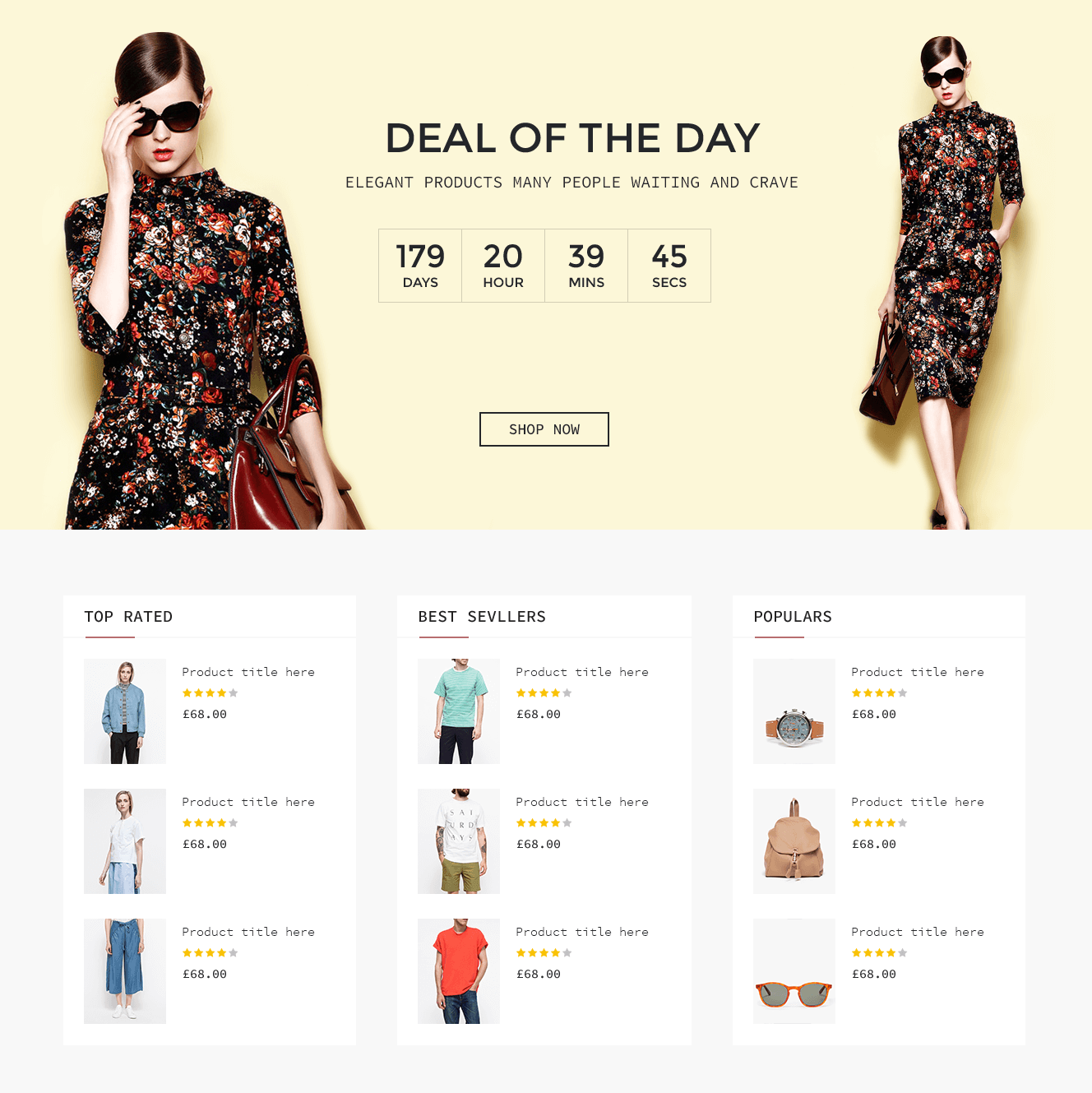Shopping Template UI Kit