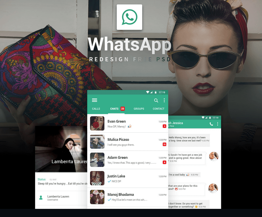 WhatsApp Redesign Free