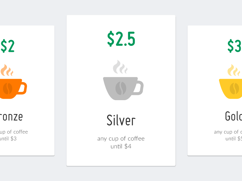 Coffee Pricing Table Psd-Ai