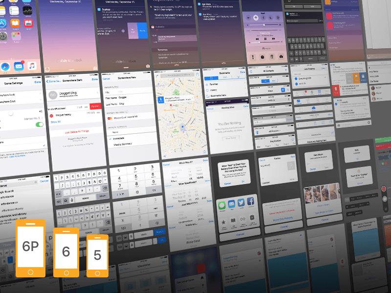 iOS 9 Ui Kit PSD