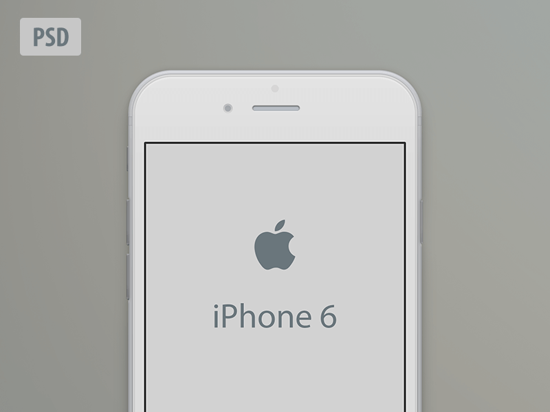 iPhone 6 Mockup Cream Color PSD