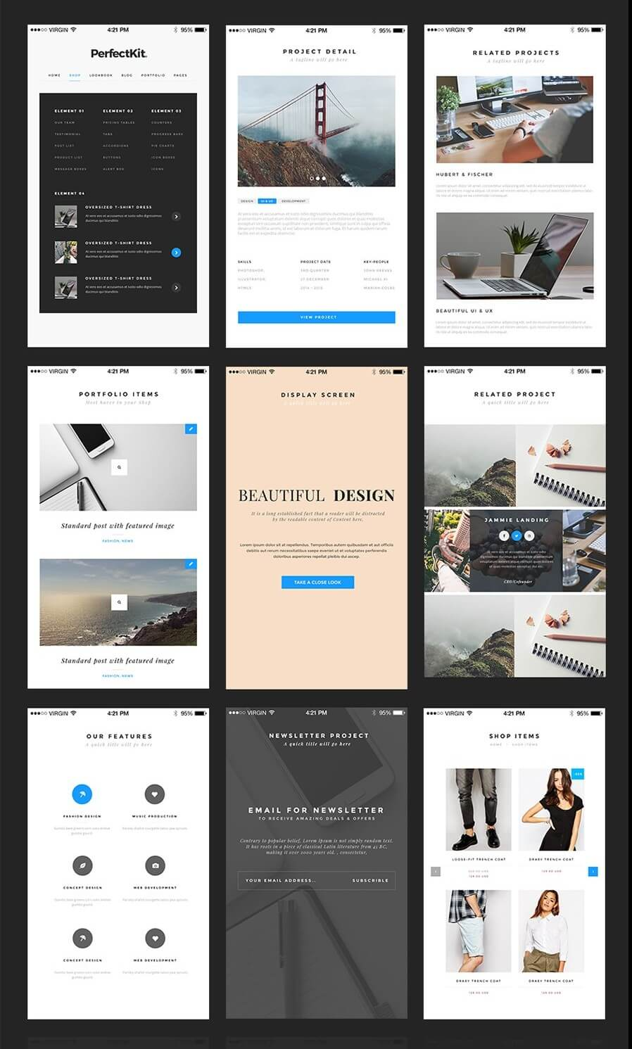 Modern Ui Kit Mobile-Desktop