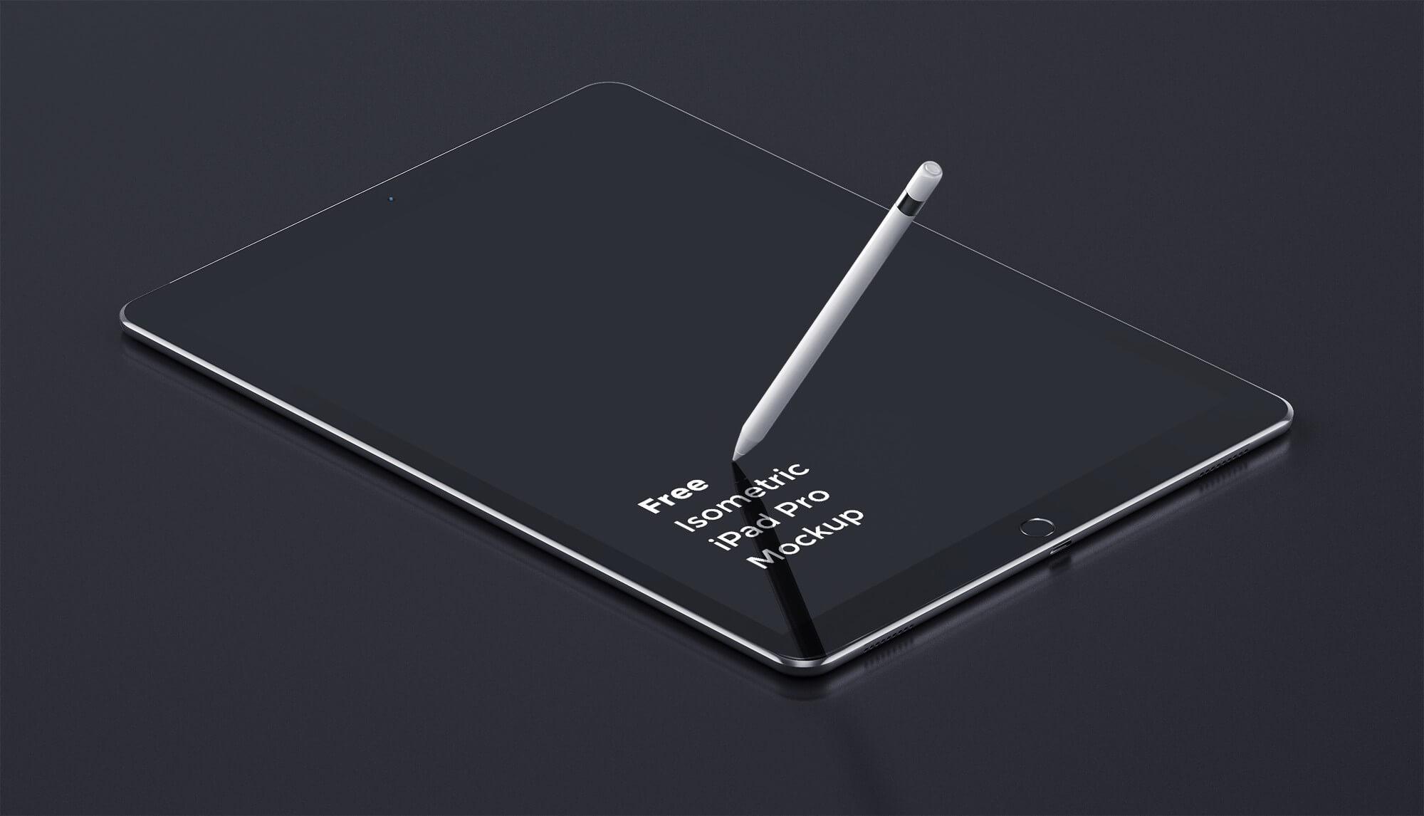 New iPad Pro Mockup PSD
